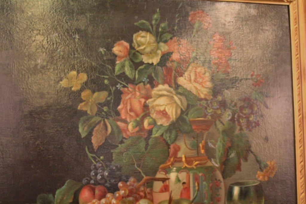 19th C. Italian Oil on Canvas Still Life Paintings-Pair - 2