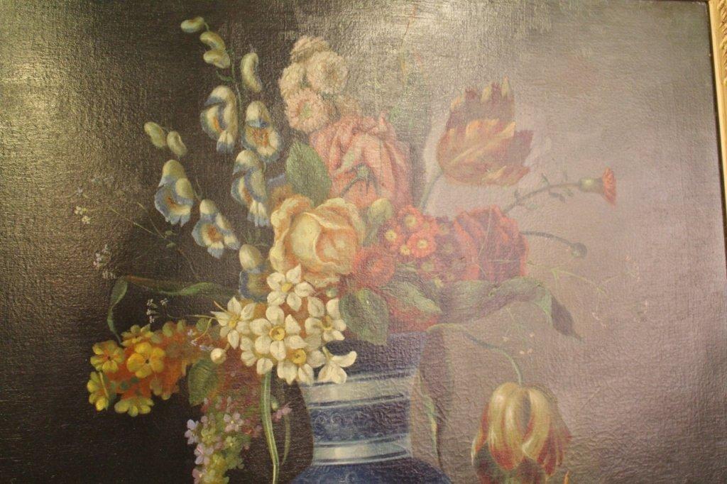19th C. Italian Oil on Canvas Still Life Paintings-Pair - 4