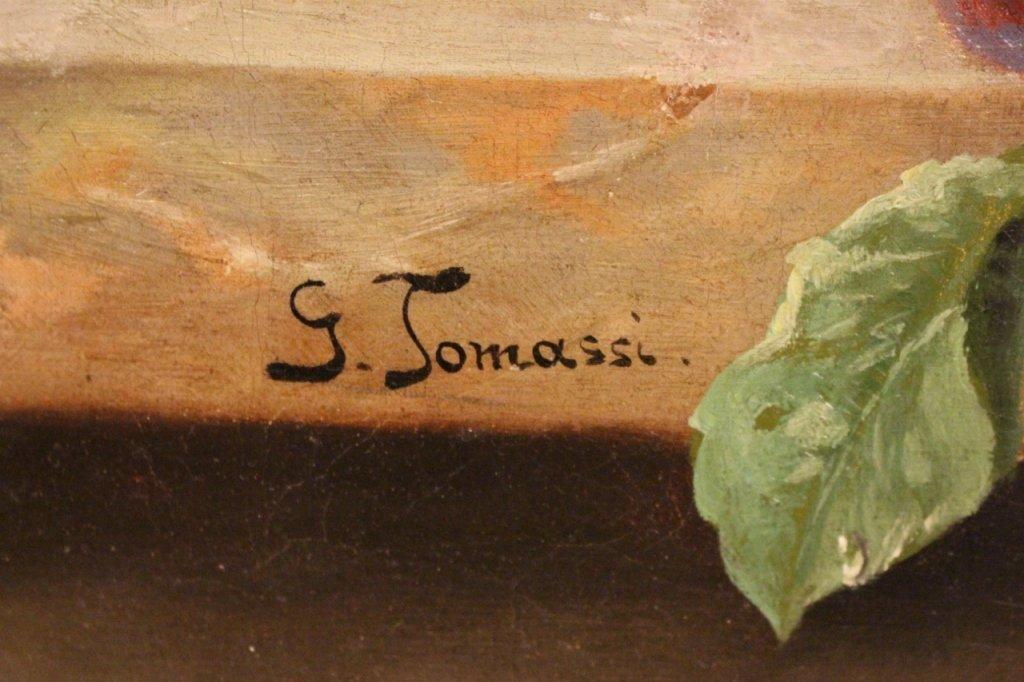 19th C. Italian Oil on Canvas Still Life Paintings-Pair - 7