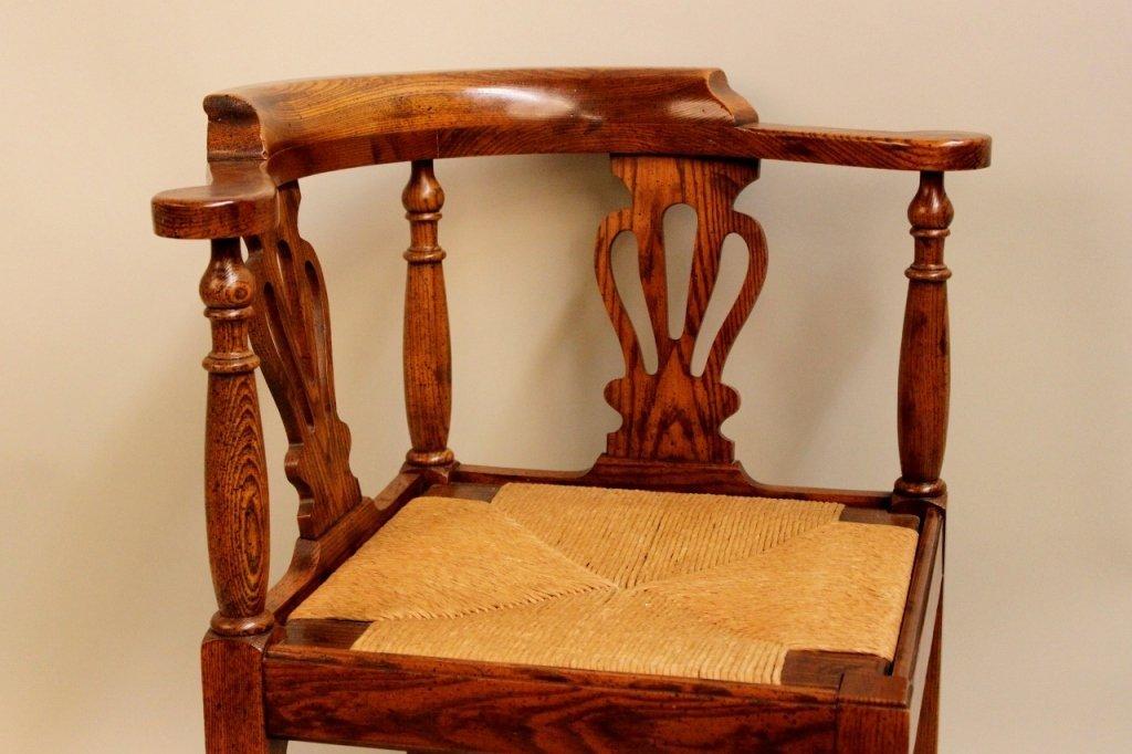 20th C. Oak Corner Chair by Randy Wilkerson - 3
