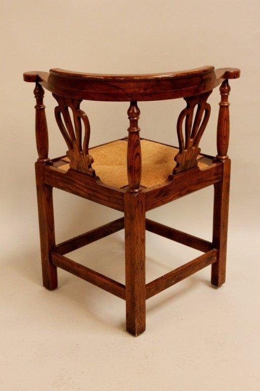 20th C. Oak Corner Chair by Randy Wilkerson - 4