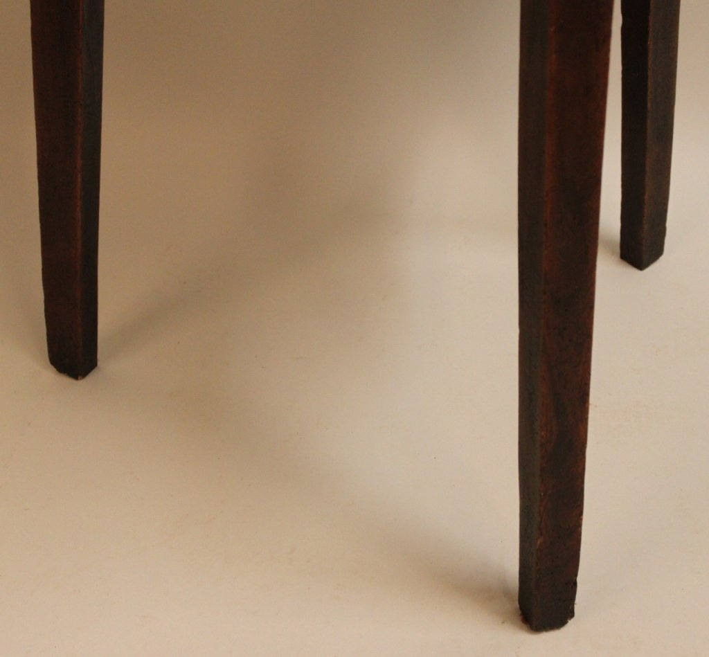 19th Century English Elm Wood Cricket Table - 2