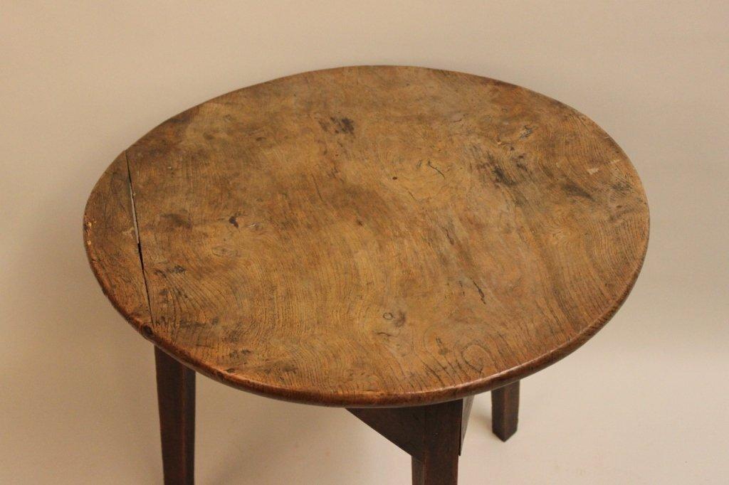 19th Century English Elm Wood Cricket Table - 3