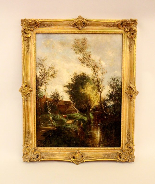 Mid-19th C. English Oil on Canvas