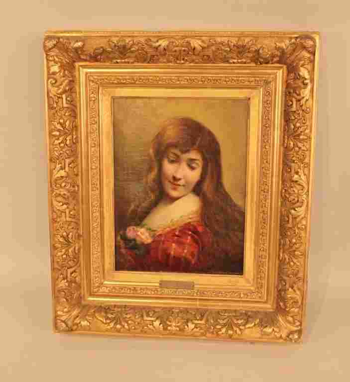 Angelo Asti 1847-1903 Portrait of a Beauty