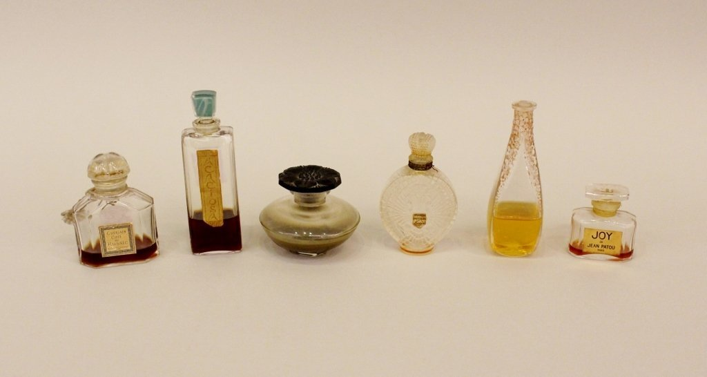 Six Commercial Perfume Bottles