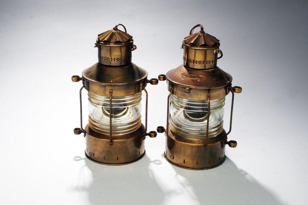 Pair of Bronze Ship's Lanterns.