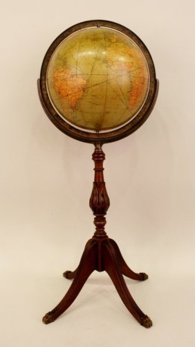 20th C. Globe on Stand.