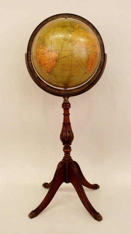 20th C. Globe on Stand.