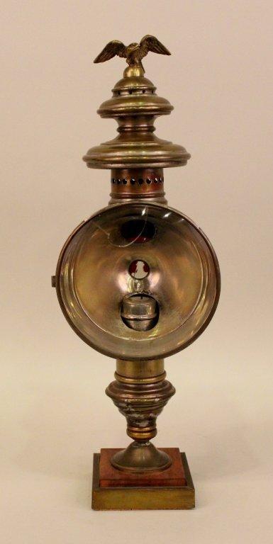 A Pratt Fire Engine Candle Lamp.