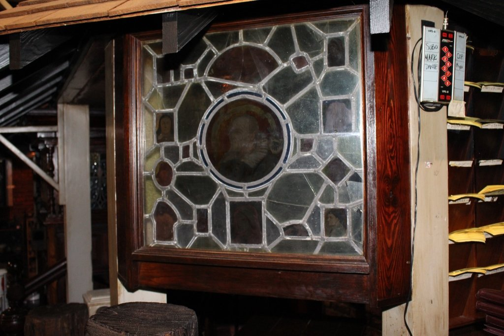 Leaded and Stained Glass Light Box. - 2