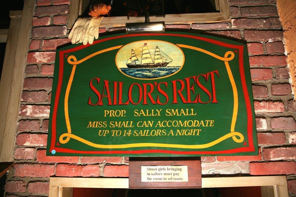 """""""Sailor's Rest"""" Sign"""