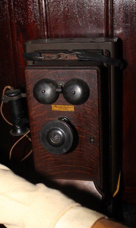 Western Electric Oak Wall Phone.