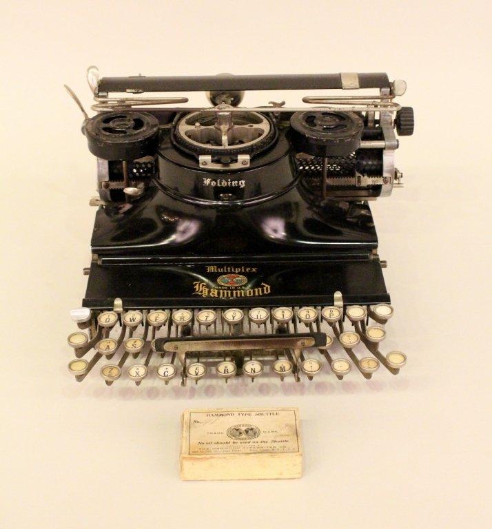 Hammond Folding Multiplex Portable Typewriter.