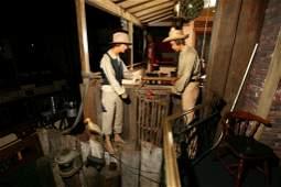 Huck Finn and Tom Sawyer Wax Figures