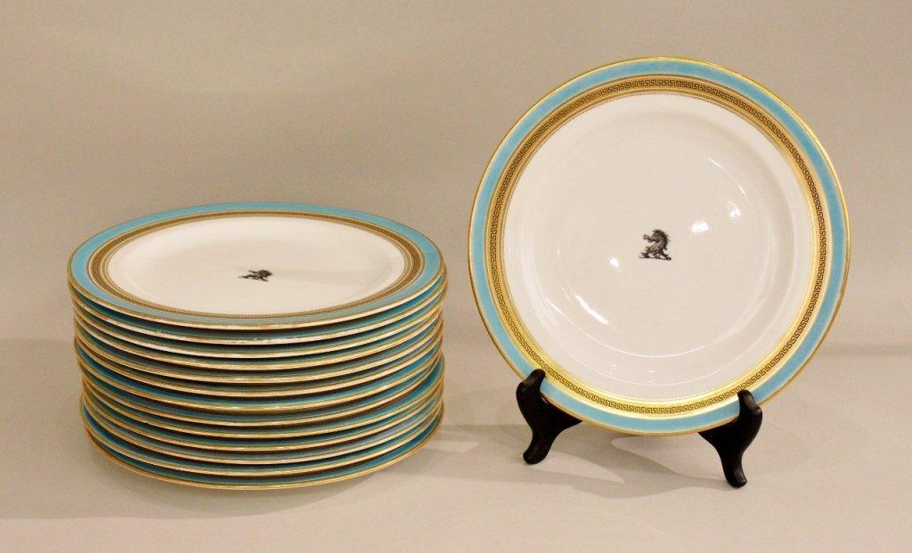 14 British Armorial Plates