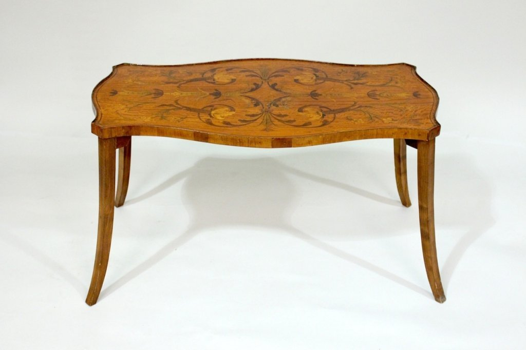19th C. Inlaid Coffee Table.