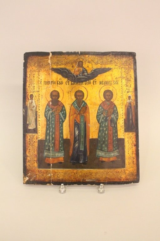 A Russian Icon of The Three Hierarchs