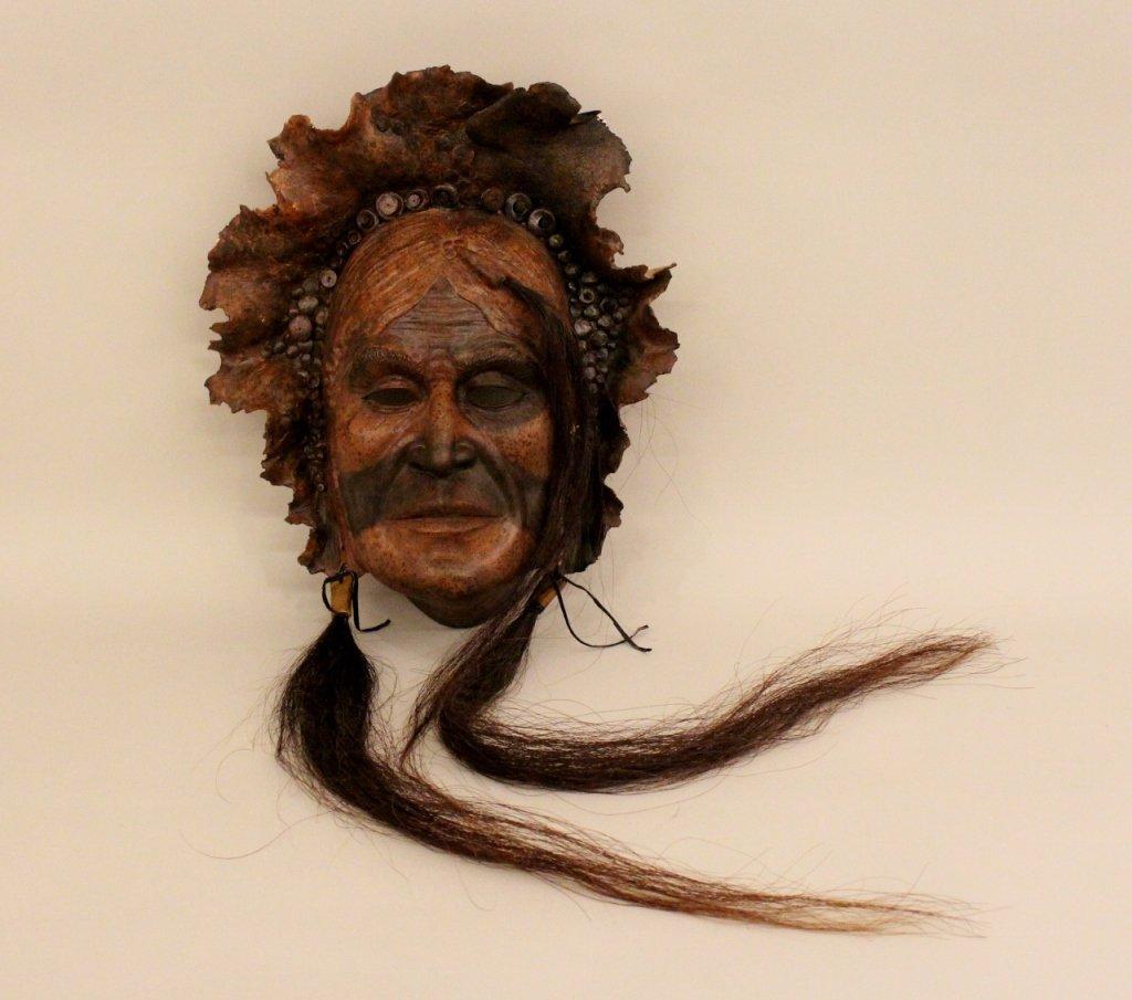 20th Century Native American Clay Facial Mask.