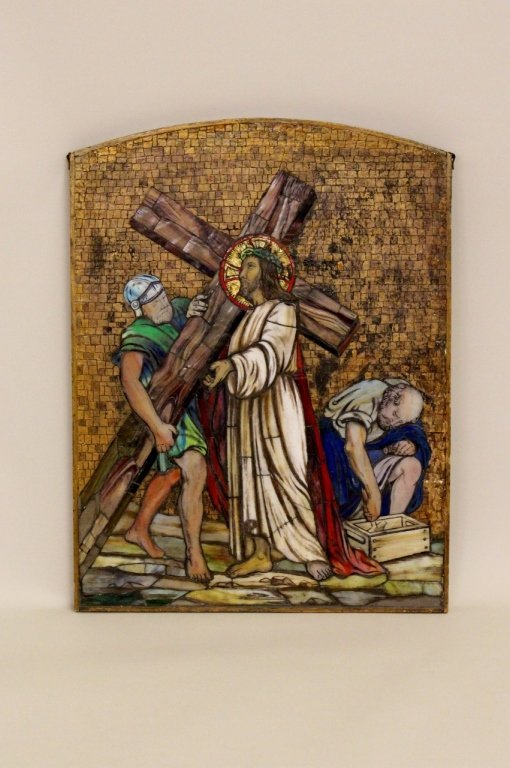 Stained Glass Mosaic of The Crucifixion of Christ