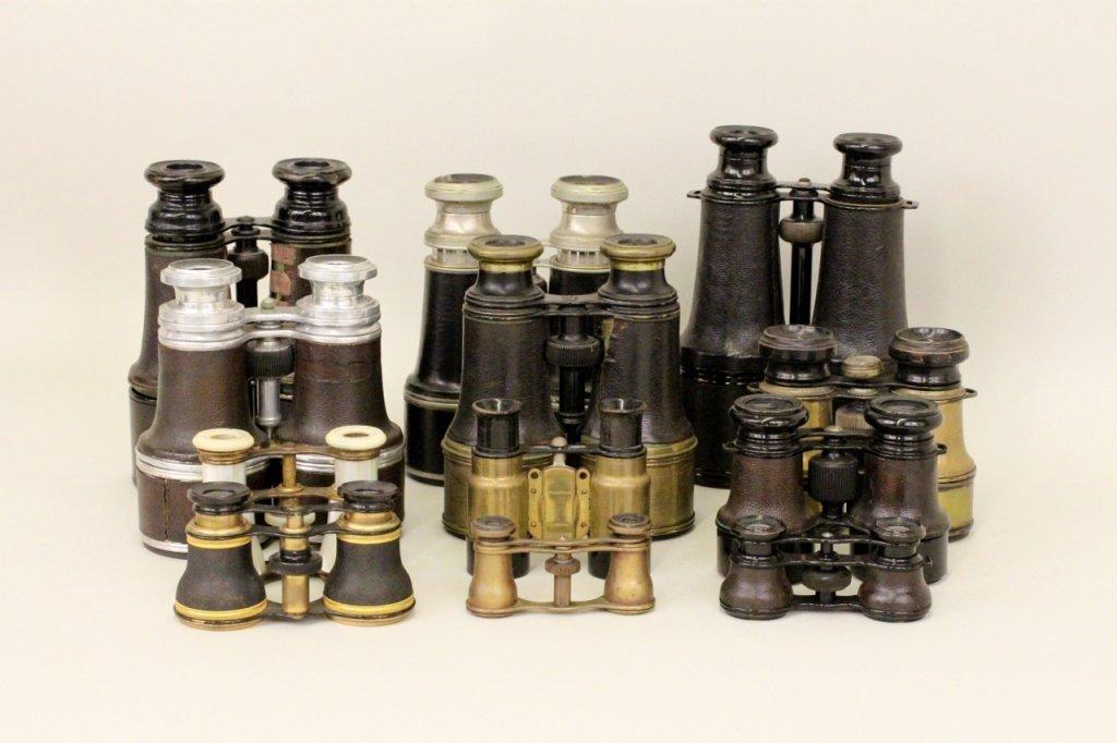 Group of 12 Antique Binoculars/Opera Glasses