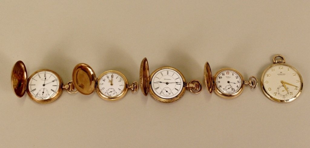 Group of Five Pocket Watches