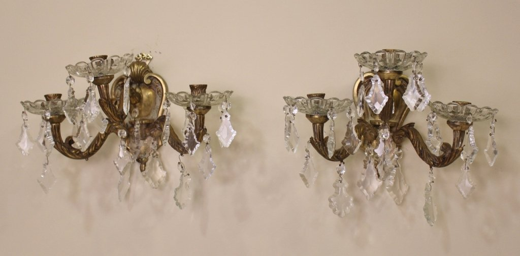 Pair of Crystal Sconces