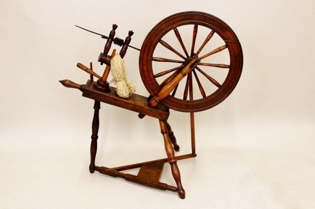 American Flax Wheel, 19th Century