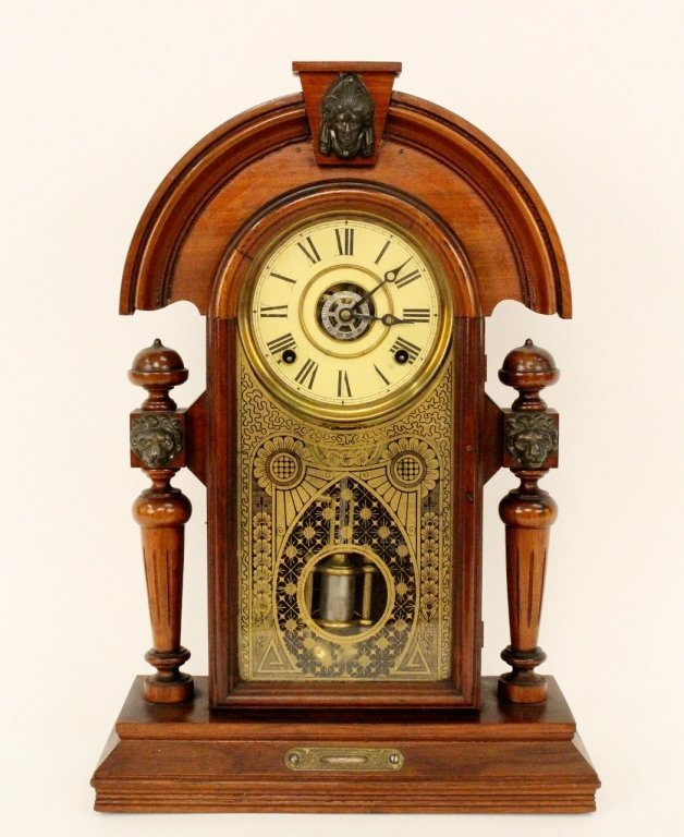 Victorian Walnut Cased Mantle Clock