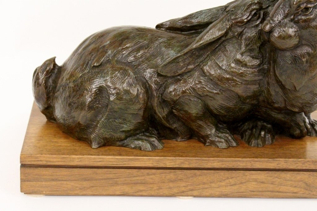 Dan Ostermiller Bronze Rabbit Sculpture - 2