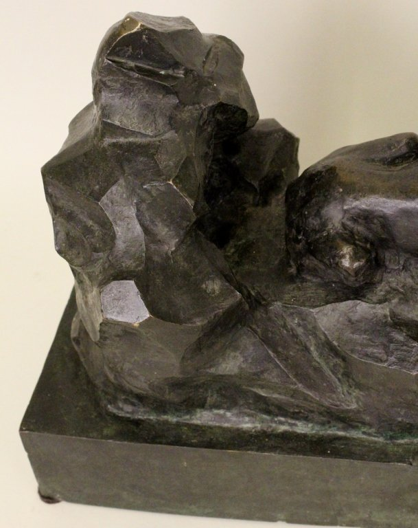 Patinated Bronze Lion Sculpture - 2