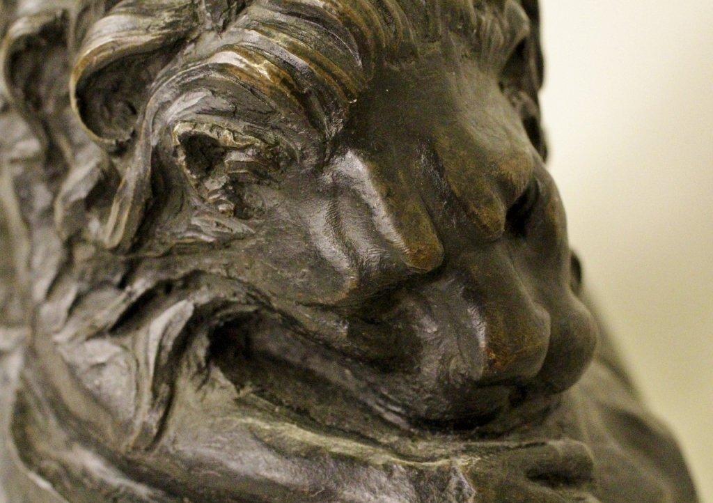 Patinated Bronze Lion Sculpture - 3