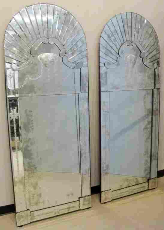 Pair of Venetian Mirrors with Ram's Head Motif