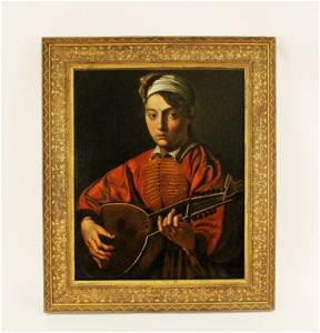 After Caravaggio, The Lute Player