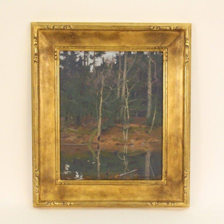 "John Phillip Osborne ""Pond Interior"" Oil"
