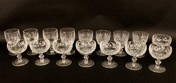 Sixteen Crystal GlassesMost Waterford
