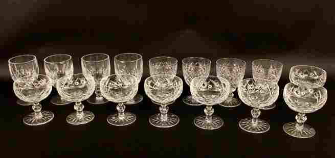 Sixteen Crystal Glasses--Most Waterford