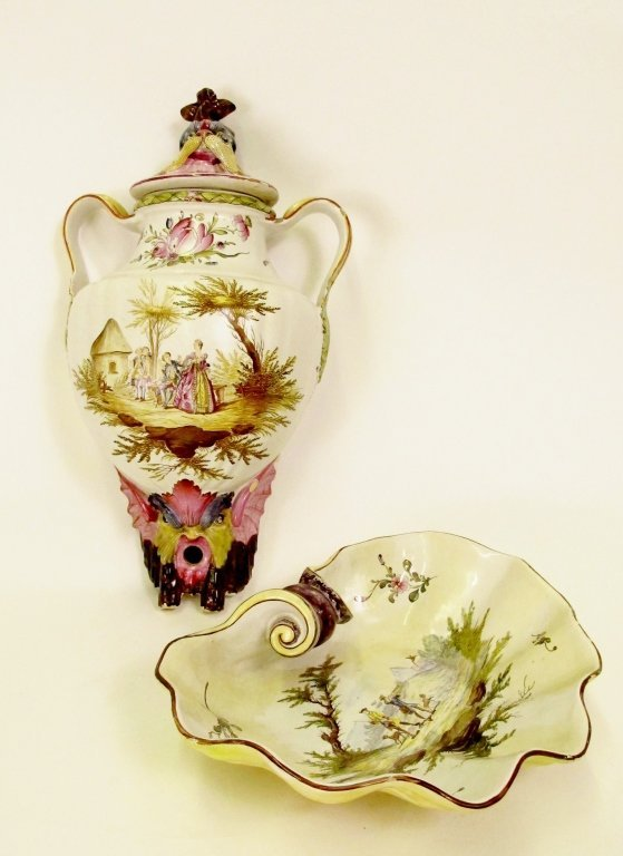 French Faience Veuve Perrin Lavabo