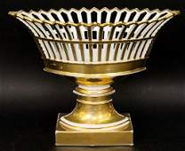 Old Paris Style Gilt Porcelain Corbeille