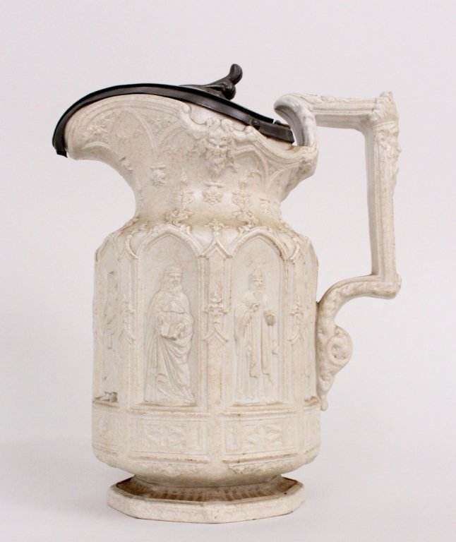 English Salt Glazed Stoneware Pitcher