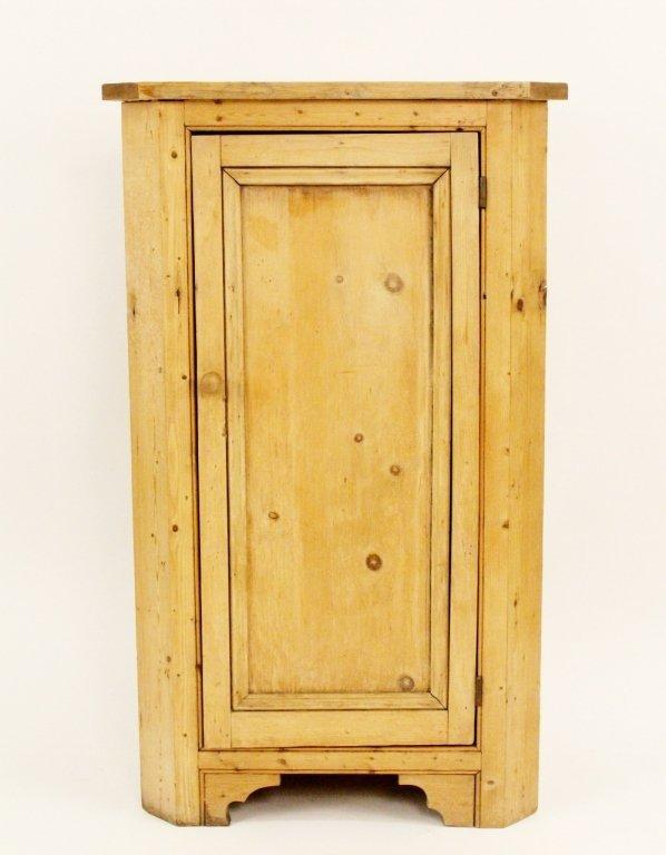 American 19th C. Pine Corner Cabinet