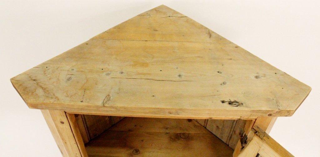 American 19th C. Pine Corner Cabinet - 5