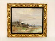 Willi Bauer, Impressionist Style Landscape Oil