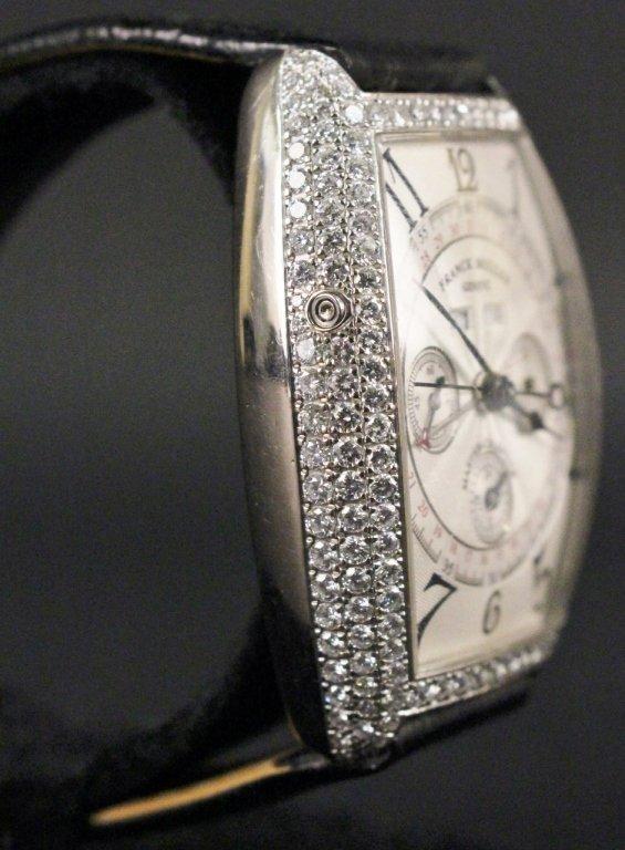 Franck Muller 18k White Gold & Diamond Watch - 4