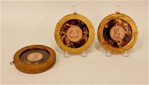 A Set of Four Round Framed Roman Figural