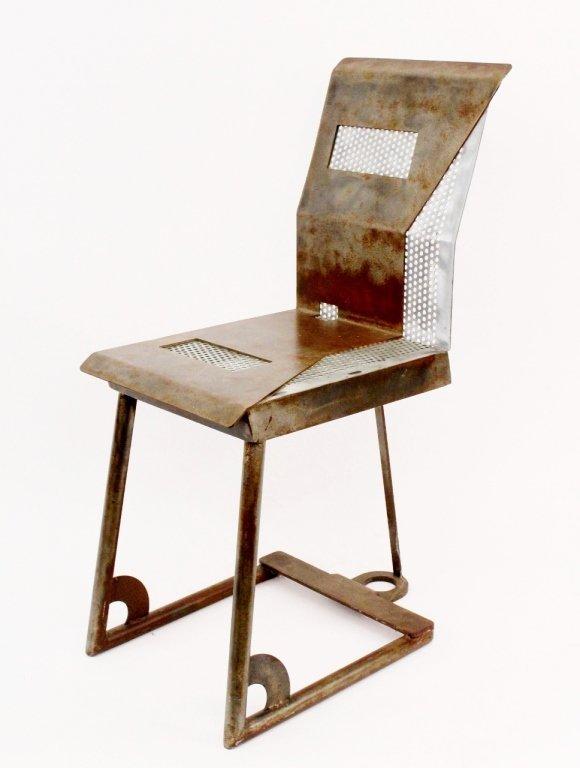 Modern Metal Geometric Side Chair