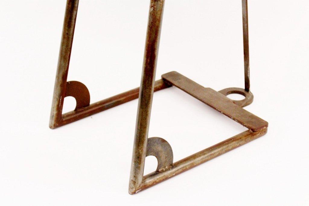 Modern Metal Geometric Side Chair - 2
