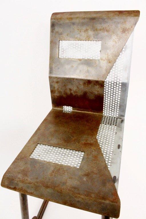 Modern Metal Geometric Side Chair - 3