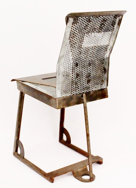Modern Metal Geometric Side Chair - 5