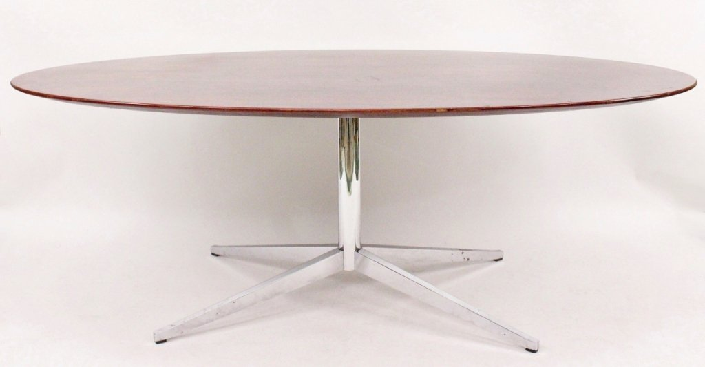 Florence Knoll Rosewood Oval Dining Table